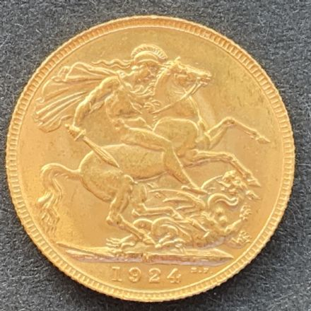 1924 Gold Sovereign Melbourne Rare